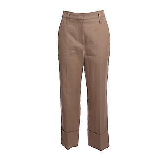 Brunello Cucinelli Mf585p7231c7908 Women's Pink Nylon Pants