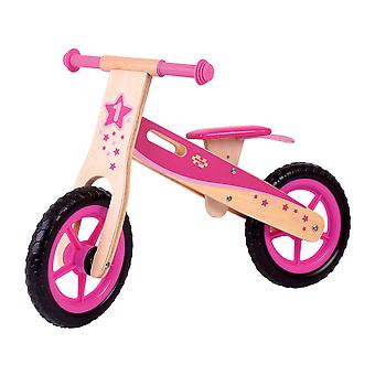 Bigjigs Toys Children's Wooden Balance Bike Running Mobility Training