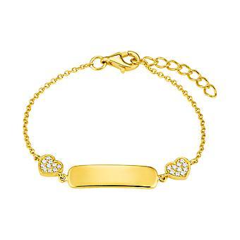 Princess Lillifee children bracelet Ident silver gold hearts zirconia 2027944