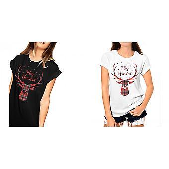 Fashionkilla Womens/Ladies Oversized Feliz Navidad T-shirt