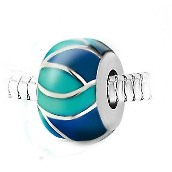 Steel pearl charm by SC Crystal BEA0248-BLEU