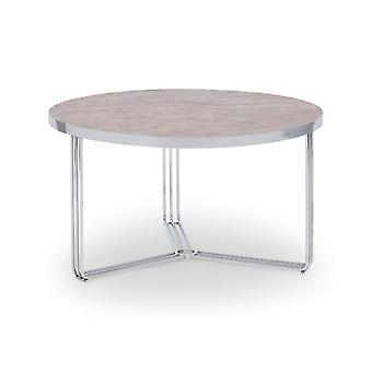 Gillmore Deco - Table basse circulaire moyenne avec divers hauts en pierre et options de couleurs de cadre