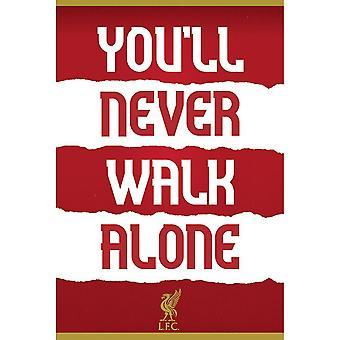 ליברפול אתה אף פעם לא הולך לבד כרזה