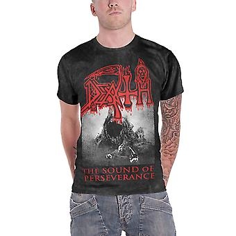 Death T Shirt The Sound Of Perseverance Band Logo Official Mens Charcoal grey