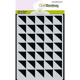 كرافتانساتوسيل إم إم ميكس مثلث تصميم الاستنسل 90 درجة A6
