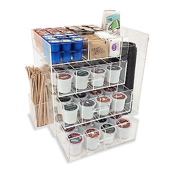 OnDisplay Acrylic Coffee Station with Drawers for Keurig® K-Cup Coffee Pods