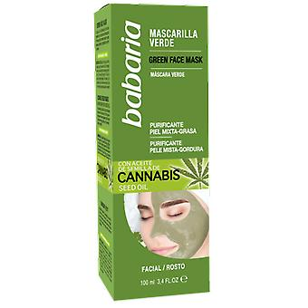 Babaria Green Mask with Cannabis Seed Oil 100 ml
