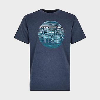 New Weird Fish Men's Sunset T-Shirt Navy