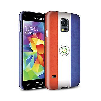 STUFF4 Gloss Hard Back Snap-On Phone Case for Samsung Galaxy S5 Mini/Paraguay/Paraguayan/Americas Flag