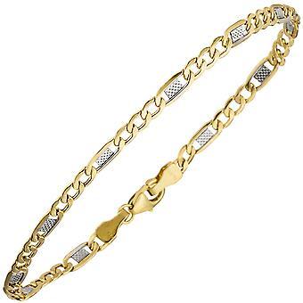 Steg تانج سوار 333 الذهب الأصفر ثنائي اللون 19 سم الذهب سوار سوار الذهب carabiner