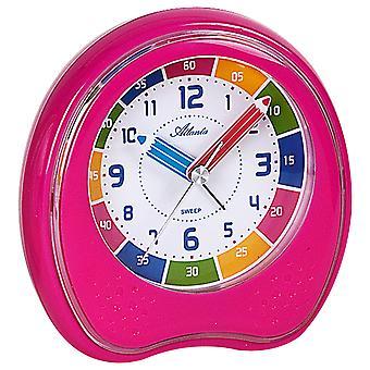 Атланта 1953/17 будильник Дети часы будильник розовый немого обучения для детей