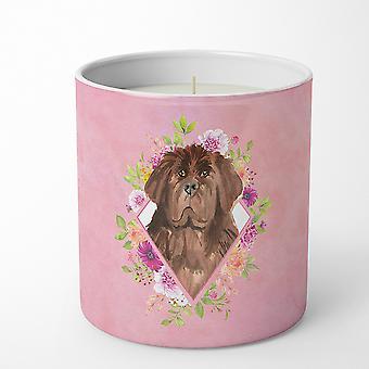 Newfoundland Pink Flowers 10 oz Decorative Soy Candle