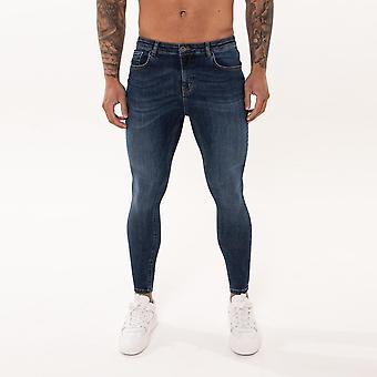 Nimes Super Skinny Spray on Non-Ripped Jeans - Midnight Blue-30S
