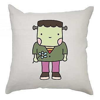 Monster Cushion Cover 40cm x 40cm - Frankenstein Holding Flower