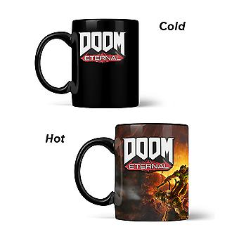 Official DOOM Metal Badge Heat Changing Mug