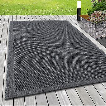 In- & Extérieur tissu plat tapis motif web Sisal Optique lignes Design en gris