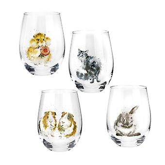 Wrendale Designs Set of 4 Tumbler Glasses