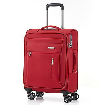 travelite Capri Equipaje de mano Carro S, 4 ruedas, 55 cm, 38 L, rojo