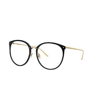 Linda Farrow Kings LFL747 C7 Black Yellow Gold Glasses