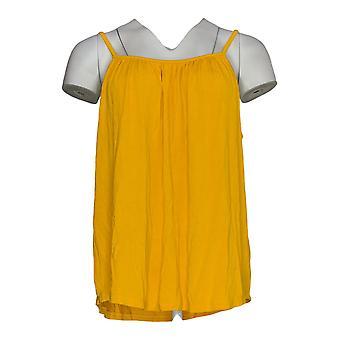 K Jordan Women's Top Draped Front Camisole Marigold Yellow