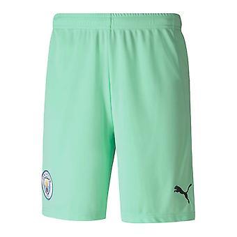2020-2021 Manchester City Home Goalkeeper Shorts (Green)
