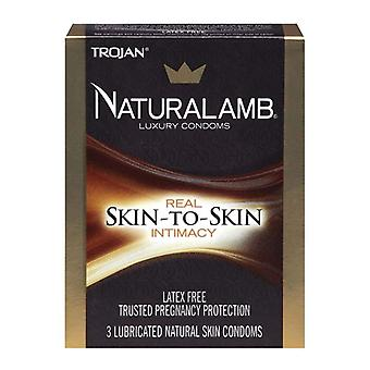 Trojan naturalamb latex free lubricated condoms, 3 ea