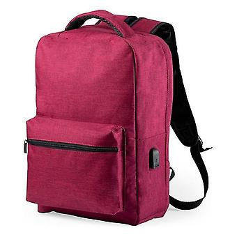 Anti-theft Rucksack with USB, Red