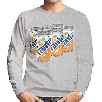 Camisola dos homens retro das latas de Fanta Orange 1980s