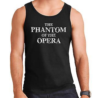 The Phantom Of The Opera Shattered Text Logo Men's Vest
