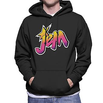 Jem And The Holograms Classic Faded Logo Men's Hooded Sweatshirt