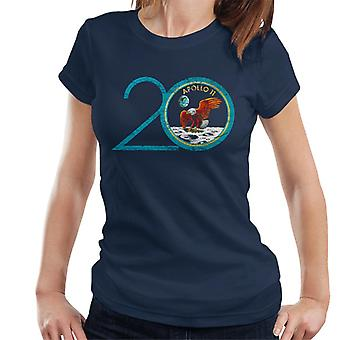 NASA Apollo 11 20th Anniversary Badge Distressed Women's T-Shirt