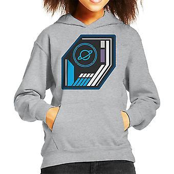O Crystal Maze Basic Planet Badge Kid 's Camisola Encapuzada