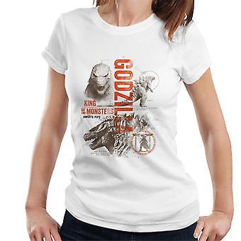 Godzilla Origins Montage Women's T-Shirt