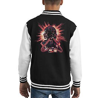 Opprinnelige Stormtrooper Imperial Pilot TIE hjelm eksplosjon barneklubb Varsity jakke