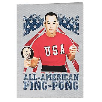 Forrest Gump All American Ping Pong Greeting Card
