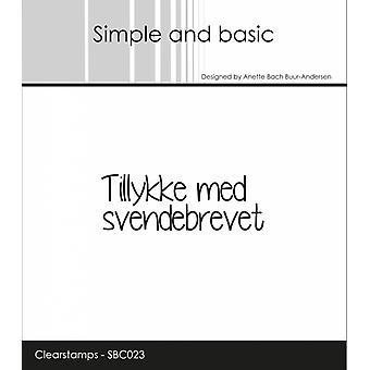 Enkla och grundläggande danska texter 11 Tydliga frimärken
