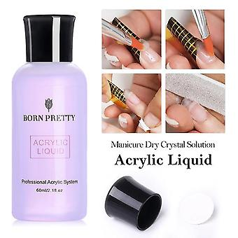 Acrylic Liquid Nail Polish Crystal Acrylic Powder Solution For Manicuring Carving Nail Art Extension Tool