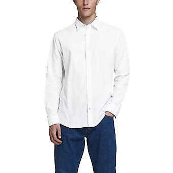 Jack & Jones Men's Plain Poplin Shirt Slim Fit Essentials