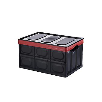 YANGAFN Plastic Folding Storage Box with Lid and Handle