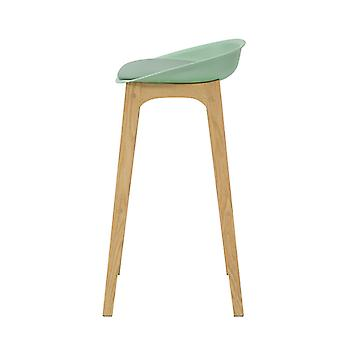 SoBuy FST78-GR, Kitchen Breakfast Barstool, Bar Stool con PP & PU Padded Seat e Gambe in legno di quercia