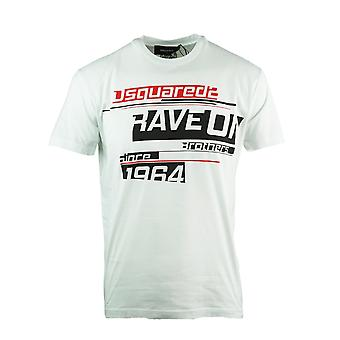 Dsquared2 Rave On Cool Fit camiseta blanca