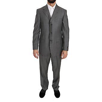 Ermenegildo Zegna Gray Two Piece 3 Button Wool Suit KOS1372-50