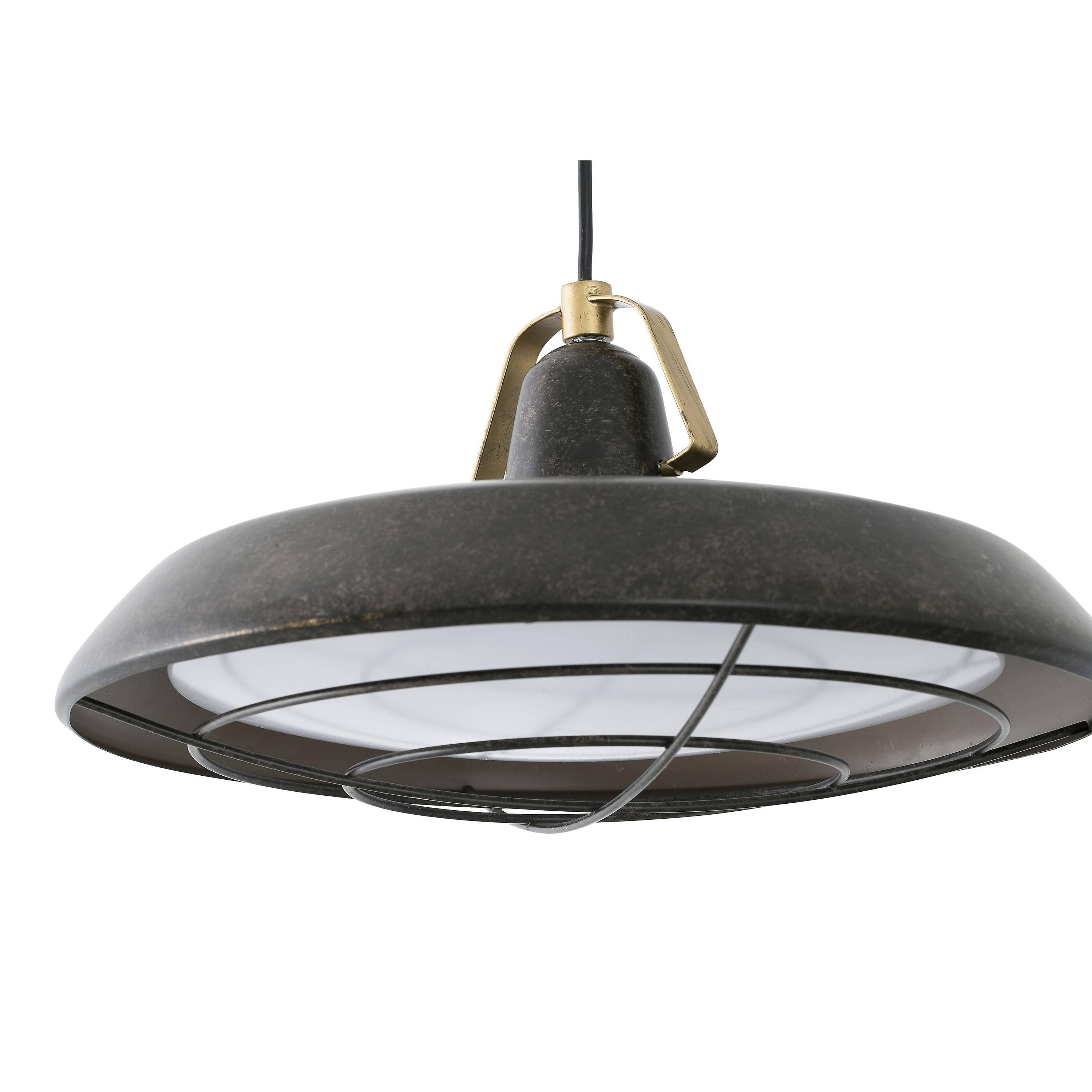 LED 1 Light Outdoor Dome Ceiling Pendant Light Old Brown IP44