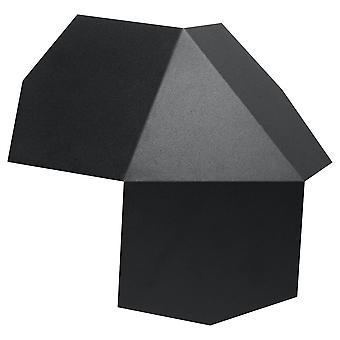 2 Luz de pared ligera negro, G9