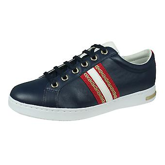 Geox D Jaysen A Womens Nappa Leather Trainers / Chaussures - Bleu