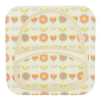 Tiny Dining Children's Bamboo Fibre Dining Plate - Flower