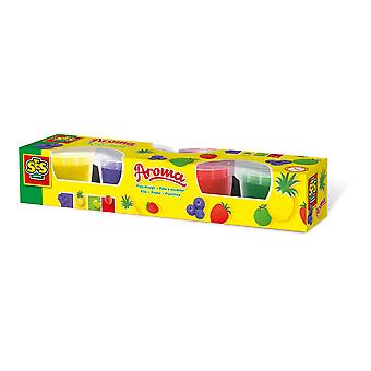 SES Creative Children's Play Dough Aroma Set 4 Pots (90g) (468)