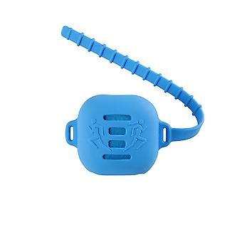 Ręcznik z mikrofibry quick-hurricane w silikonowej obudowie - Niebieski