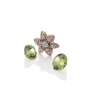 Anais חם יהלומים Anais רוז זהב מצופה כסף פרח קסם AC056