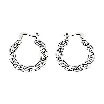 Heritage Sterling Silver Celtic Full Hoop Boucles d'oreilles 6286HP026